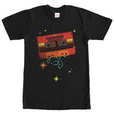 Marvel Guardians of the Galaxy Awesome Mix Tape Black T-Shirt