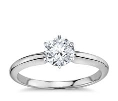 Classic Six-Prong Solitaire Engagement Ring Platinum 1.00 - 1.09 ct., Women's, Size: 3 - 9, Platinum