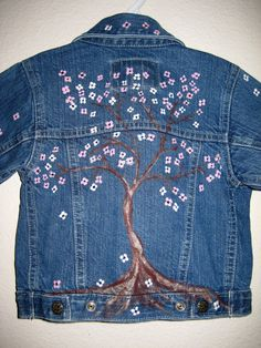 Blue Jean Baby Denim Jacket Hand painted Hip little by BlueJeanLove, $25.00