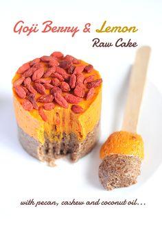 Goji Berry and Lemon Raw Cake