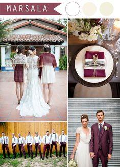 Свадьба цвет марсала фото