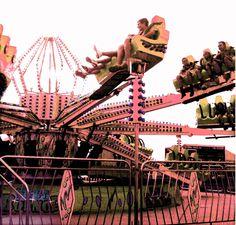 Vintage Tinted Carnival Ride