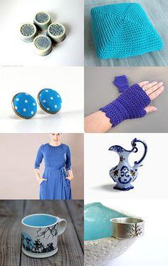 Blue shades by Diána Komjáti on Etsy--Pinned with TreasuryPin.com