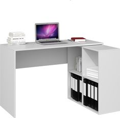 NAROŻNE BIURKO PLUS REGAŁ MALAX 2X2 BIEL MAT - 244 zł - Allegro.pl - Raty 0%, Darmowa dostawa ze Smart! - Rawa Mazowiecka - Stan: nowy - ID oferty: 9154619275 Stan, Corner Desk, Furniture, Home Decor, Table Desk, Mesas, Corner Table, Decoration Home, Room Decor