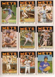 1986 Topps New York Mets Complete Team Set Cards) Rusty Staub, Mookie Wilson, Mets Team, George Foster, Dwight Gooden, Darryl Strawberry, Gary Carter, Howard Johnson's, New York Mets