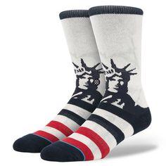 INSTANCE Lady Liberty Men's Socks
