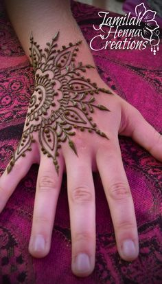 sun star henna mandala www.jamilahhennacreations.com