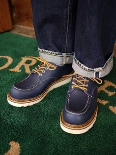 """Red Wing Shoes - Work Heritage, #8100 with Indigo """"Portage""""  Official Red Wing Shoes Taiwan Website: http://redwingshoestw.com/site/index.php"""
