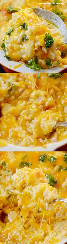 Ham and Cheese Baked Rice Casserole -- made with rice leftovers... so easy to prepare and delicious!