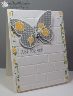Floral Wings in Yellow and Gray by amyk3868 - Cards and Paper Crafts at Splitcoaststampers