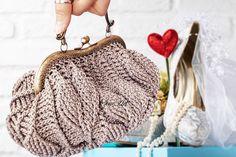 Crochet victorian purse