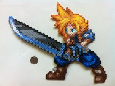 DeviantArt: More Collections Like Perler Beads Cloud Strife CSW by ...