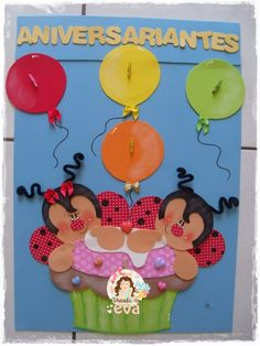 Cumpleañeros Bug Crafts, Crafts To Make, Arts And Crafts, Art N Craft, Birthday Board, Kids Church, Creative Art, Ladybug, Poster
