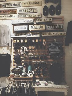weathered signs x Brandy Melville.  ➳♡