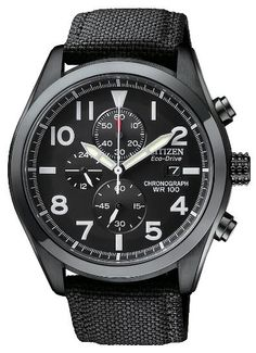 Citizen Eco-Drive Men's Canvas Strap Chronograph Watch