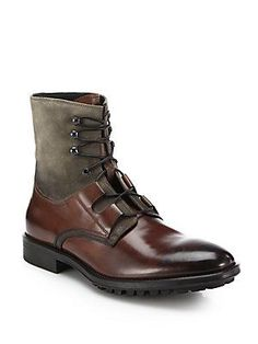 To Boot New York Blake Mixed-Media Boots