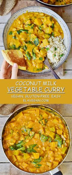 Vegetable curry recipe with coconut milk and pineapple! This healthy veggie curry is vegan gluten-free oil-free comforting easy to make and can be also prepared in a slow cooker (crackpot)! - Slow Cooker - Ideas of Slow Cooker Slow Cooker Curry, Vegan Slow Cooker, Slow Cooker Recipes, Cooking Recipes, Slow Cooker Vegetable Curry, Oven Recipes, Easy Cooking, Easy Recipes, Healthy Recipes