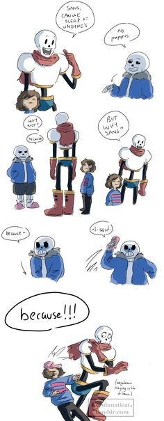 because Sorry Frisk, Sans had to hit someone and it wasn't going to be his brother.