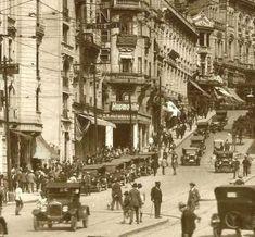 Avenida São João nos anos vinte no centro de São Paulo/SP.