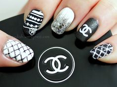 YouTube Tutorial: Chanel Inspired Nails | Nails & Video Tutorials | elle & ish