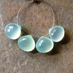 Dyed Chalcedony Faceted Heart Briolettes