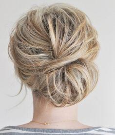 low side bun- megans wedding - Wedding-Day-Bliss