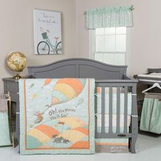 Trend Lab Dr Seuss Oh The Places You'll Go 5 Piece Baby Crib Bedding Set
