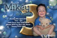 Boys Bubble Birthday Party Invitation