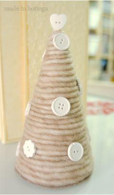 albero+di+natale+con+lana