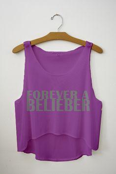 Forever A Belieber Crop Top