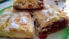 Házi rétes nyújtás nélkül, egyszerű és nagyon finom - Balkonada recept Hungarian Desserts, Strudel, Cake Cookies, Apple Pie, Fudge, French Toast, Paleo, Food And Drink, Yummy Food