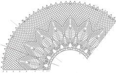 Crochet Shawls: Crochet Cape Sweater For Women - Lace Cape Crochet Collar Pattern, Crochet Chart, Crochet Trim, Love Crochet, Crochet Motif, Beautiful Crochet, Knit Crochet, Crochet Patterns, Easy Crochet