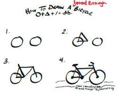 This easy tutorial will help you learn to draw a cartoon bicycle! So let's see how you could draw a simple bicycle in seven easy steps! Finally, add the basic shapes for the saddle, the handlebars and the pedal. Drawing Lessons, Drawing Techniques, Drawing Tips, Art Lessons, Doodle Drawings, Easy Drawings, Doodle Art, You Draw, Learn To Draw