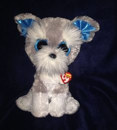 57607d43bfb Ty Beanie Babies 37037 Boos Whiskers The Schnauzer Boo Buddy