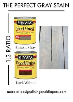 I wanted the wood to match our outdoor table and patio, so I gave it a coat of my favorite stain mix, using Minwax Classic Gray and Dark Walnut.