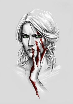Ciri Witcher, Witcher Art, The Witcher Books, The Witcher Game, Character Inspiration, Character Art, Character Design, Tattoo Studio, Art Sketches