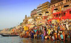 Varanasi India is sacred to Hindus, Buddhists and Jains.