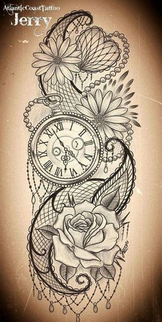 Compass rose instead of a pocket watch