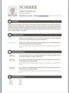 Resultado de imagen para modelos de curriculum vitae