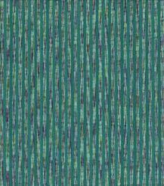 Seersucker Fabric-Vari Stripe Teal Cotton