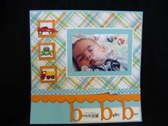 Scrapbook Baby Layouts images