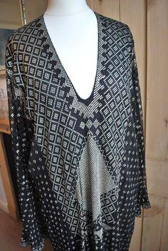 20's Vintage black Assuit silk lined dress, sz M/Lperfect condition silk lined  #NoLabel #20s #Cocktail
