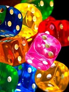 Things are brightening up. Could it be: Friday...LOL Rainbow dice