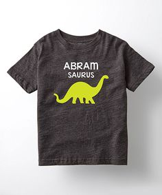 Take a look at this Heather Charcoal 'Saurus' Personalized Tee today!