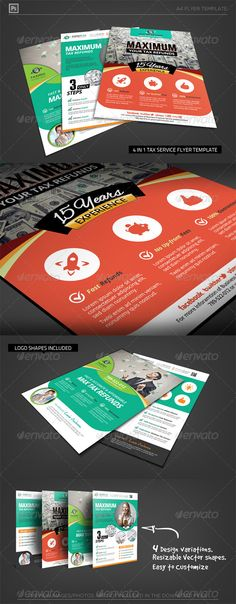 Business Tax Refund Flyer — Photoshop PSD #service #refunds • Available here → https://graphicriver.net/item/business-tax-refund-flyer/6450101?ref=pxcr