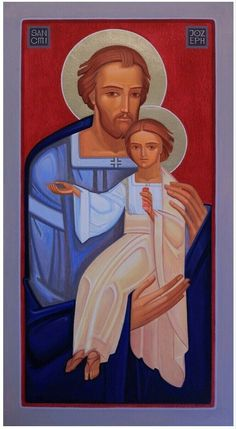 Christian Paintings, Christian Art, Catholic Art, Roman Catholic, Contemporary Artwork, Contemporary Artists, St Joseph, Sacred Art, Buy Art