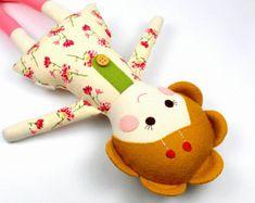 fabric rag doll camille doll for girl girl rag by CleoAndPoppy