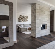 Rock Accent Wall In The Master Bedroom Home Decor In