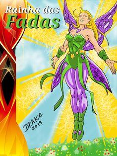 A Rainha das Fadas. Drake, 2019. Arte Drake, Fictional Characters, Fairy Queen, Drawings, Fantasy Characters