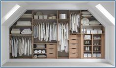 New Bedroom Wardrobe Storage Ideas Dressing Rooms 53 Ideas Attic Bedroom Closets, Attic Master Bedroom, Bedroom Closet Storage, Loft Storage, Closet Bedroom, Storage Units, Attic Closet, Small Storage, Master Closet